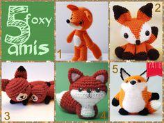 The Fox is the New Owl! Collection of fox animal crochet amigurumi dolls
