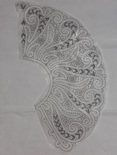 одноклассники Bobbin Lace Patterns, Embroidery Patterns, Crochet Collar, Lacemaking, Point Lace, Chrochet, Irish Crochet, Diy Tutorial, Macrame