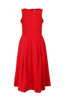 Detail: high waisted, elegant midi length, pleats design around waist, side pockets, invisible back zipper, comfortable inner liner Fabric: polyester, lined Size(cm) Bus...