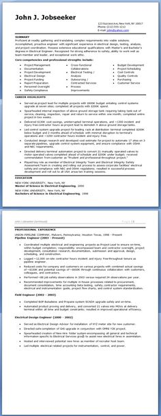 Electrical Engineer Resume Sample Doc (Experienced)