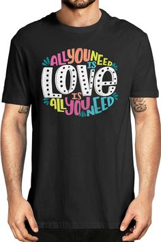 Quote Shirts, Shirts With Sayings, Valentines Day Decorations, Valentine Crafts, Graphic Tee Style, Graphic Tees, Love T Shirt, All You Need Is Love, Fashion Books