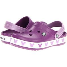 Crocs Kids Crocband Mickey II (Toddler/Little Kid). Loving Lila's Crocs for summer!