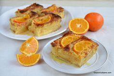 Prăjitură însiropată cu portocale și iaurt - rețeta grecească de portokalopita. Cum se face plăcinta cu iaurt, portocale și foi subțiri? Sweet Tooth, French Toast, Sweet Treats, Deserts, Sweets, Bread, Cookies, Orange, Breakfast