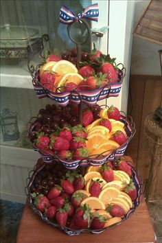 Attractive way to serve fruit..