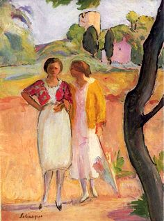 Two Ladies on a Stroll / Henri Lebasque - circa 1920
