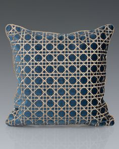 "Jay Strongwater Trellis 20""Sq. Pillow"