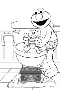 Potty training coloring page. girl. Part of a Fun potty