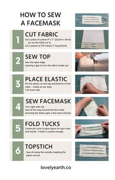 Learn how to sew a surgical face mask with very simple and easy step by step guide. I have made this face mask at home and using because there an non available. If you want to learn how. Have instructions. Wnloadable and a short video. Keep safe. Easy Face Masks, Homemade Face Masks, Diy Face Mask, Homemade Skin Care, Diy Skin Care, Facemask Homemade, Sewing Patterns Free, Free Sewing, Free Pattern