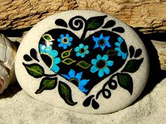 Heart of a Gypsy /  Painted Stone / Sandi Pike Foundas / Cape Cod via Etsy