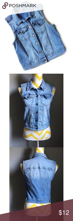 """• rubbish denim vest • in good condition 