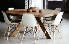 Lovely chairs and dark wood dinning table