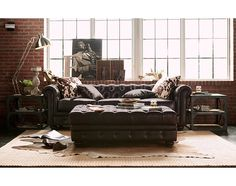 Madeline II Leather Collection - Value City Furniture-Sofa $799.99  Sectional options? Lighter leather option?