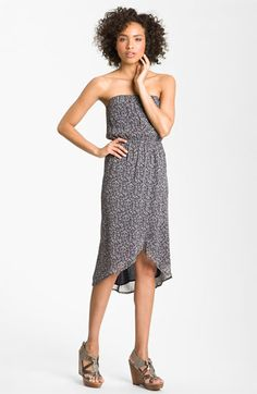 Peace & Pearls Strapless Faux Wrap Dress available at Nordstrom