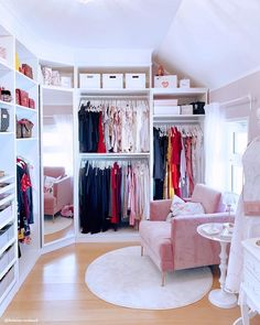 30 Best Elegant Closet Design Ideas - Have you ever considered how much walk in closet designs could improve your life and save you time? How many of you have had one of those mornings, yo. Bedroom Closet Design, Girl Bedroom Designs, Room Ideas Bedroom, Closet Designs, Bedroom Decor, Bedroom Turned Closet, Rich Girl Bedroom, Ikea Room Ideas, Walk In Closet Design