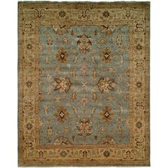 Found it at Wayfair - Piso Hand-Knotted Blue Area Rug