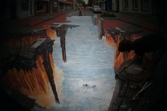A realized painting for the International Street Painting Festival in Geldern Germany, 2008
