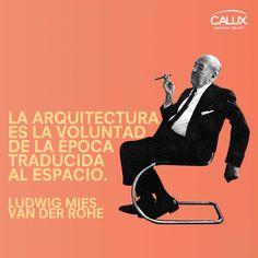 Ludwing Mies Van Der Rohe Director de la Escuela de la Bauhaus y uno de los maestros más importantes de la arquitectura moderna y con toda probabilidad el máximo exponente del siglo XX en la construcción de acero y vidrio.