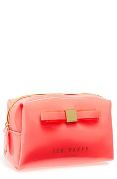 Carry your make-up in style. Love the iconic bow on this Ted Baker cosmetic case.