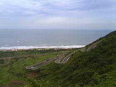 view from visakhapatnam Ramanaidu studios