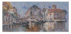 """""""Venezia, Abbazia della Misericordia""""by Antonio Maria De Reyna Manescau (Malaga 1859 - Rome 1937) Lot 598   Oil on canvas"""