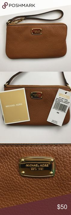 """PRICE DROP🎉Michael Kors Wristlet- NEW WITH TAGS NEW WITH TAGS Michael Kors Wristlet. Tan with beautiful interior pockets. Measures 7"""" long by 4.5"""" tall. Michael Kors Bags Clutches & Wristlets"""