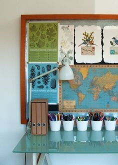 I love the idea of creating a nature board behind a work space. Inspiring!
