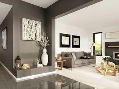 Ambiente gris y blanco Decoracion gris y blanco Casas pintadas interior Colores para pintar interiores