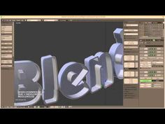 Blender Tutorial: Inset Text into a Sphere - YouTube