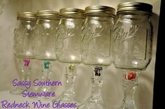 These r just like the wine glasses the guys on duck dynasty have
