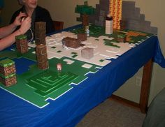 My boy would LOVE this - Minecraft Birthday party!!
