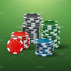 Casino poker chips. Backgrounds