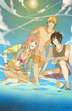 Sakura, Naruto et Sasuke