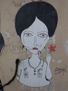 Street art, graffiti, Paris