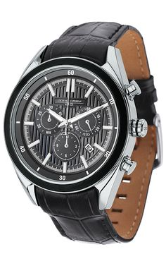 PRE-SALE Jorg Gray JG6900-23 Men's Watch Chronograph Gray Dial With Integrated Black Genuine Leather Strap