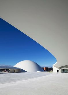 Centro Cultural Internacional, Spain by Oscar Niemeyer Cultural Architecture, Futuristic Architecture, Facade Architecture, Contemporary Architecture, Concept Architecture, Amazing Architecture, Geometry Architecture, Organic Architecture, Architecture Portfolio