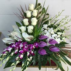 Most up-to-date Totally Free Funeral Flowers unique Suggestions Regardless of whether you're planning or perhaps participating in, memorials are normally your somber and occa. Grave Flowers, Altar Flowers, Cemetery Flowers, Church Flowers, Funeral Flowers, Flowers Garden, Tropical Flower Arrangements, Artificial Floral Arrangements, Funeral Flower Arrangements