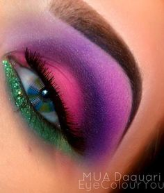 This would be so pretty if she'd glued her eyelash on correctly...
