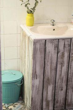 lavabo encastrado mueble palets