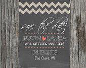 DIY Printable - Wedding Invitation Set with RSVP Chalkboard. $35.00, via Etsy.