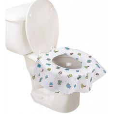 100-pieces package contains extra-large potty protectors that drape over the front and sides where kids hold on.