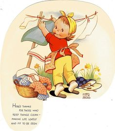 Vintage Wash Day Clip Art | Wash Day