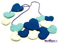 Felt Statement Necklace Felt jewellery Doble view by MariPepas, $40.00