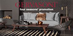 Buying one upholstered item of the GERVASONI collection you will receive a second cover in Lino Bianco FOR FREE. Promotion valid till 31st Dec. I casuarina.fi