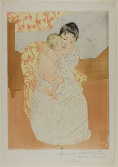 Mary Cassatt (American, printed with Leroy (French, active Maternal Caress 1890 Chicago Institute of Art Mary Cassatt, Pittsburgh, French Paintings, Oise, National Gallery Of Art, Art Institute Of Chicago, Wedding Art, Vintage Wall Art, Contemporary Paintings