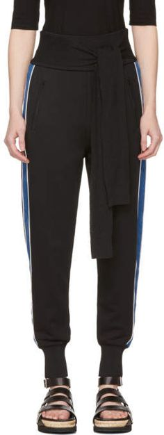 Phillip Lim Black and Blue Waist Tie Jogger Pants Jogger Pants, Joggers, Slim Fit Pants, Athletic Pants, Lounge Pants, 3.1 Phillip Lim, French Terry, Blue, Collection