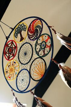 This is a crazy-fun mosaic of dream catchers. I don't even know how they made half of it...
