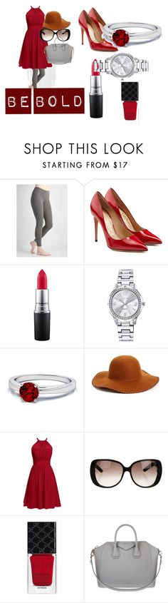 """""""Bold"""" by cvlacques on Polyvore featuring Salvatore Ferragamo, MAC Cosmetics, Mestige, Phase 3, Gucci and Givenchy"""