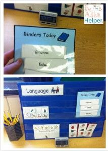 Fluency Station - students alternate days of doing timed flashcard sets with a paraprofessional and independent work in a binder - visual helps show who is doing what! Autism Education, Autism Classroom, School Classroom, School Fun, Special Education, School Ideas, Teaching Kids, Teaching Resources, Special Needs Teaching