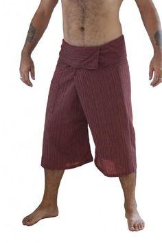 Siam Secrets 100% Cotton Pinstripe 3/4 Capri Thai Fisherman Pants Plus Brick Red Siam Secrets http://www.amazon.com/dp/B00JM76GAK/ref=cm_sw_r_pi_dp_d2dVvb0YHHAKE