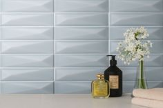 """WESTPORT is a twice fired wall tile collection in a rectangular format 6,5×26 cm – 2,5""""x10"""". The colour palette of this collection is distinguished by the soft and refined colours, suitable to cover both modern and trendy interiors. The collection is characterized by mat silk surface, which to touch, resembles soft silk material. Silk Material, Wall Tiles, Beauty Products, Palette, Surface, Colours, Interiors, Touch, Cover"""